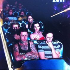 Person who I pinned this from: The guy behind Ronnie kinda looks like Chis Motionless  Me: that's a girl behind Ronnie.