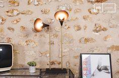 La lampara doble Bläk es una lámpara shabby chic vintage que se puede colocar en cualquier hogar vintage shabby chic.