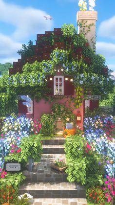 Minecraft Garden, Minecraft Farm, Cute Minecraft Houses, Minecraft Plans, Minecraft Construction, Amazing Minecraft, Minecraft Blueprints, Minecraft Crafts, Minecraft Buildings