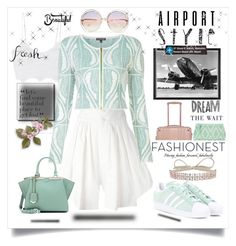 """jet set: airport style!"" by jessicad110916 ❤ liked on Polyvore featuring Chloé, Miguelina, Fallon, Eichholtz, Sophie Theallet, CalPak, Fendi, Antonello Tedde and adidas Originals"