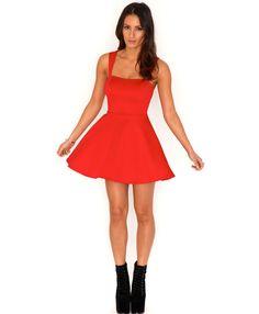 Marcilla Sweetheart Cut Out Skater Dress