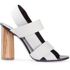 9880137b White leather sandals from Proenza Schouler featuring an open toe, a  strappy design, a