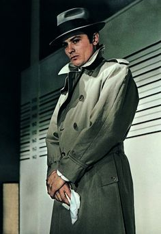 Alain Delon in Le Samouraï (1967) - Directed by Jean-Pierre Melville