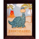 Found it at Wayfair - Artistic Reflections Brontosaurus Framed Art