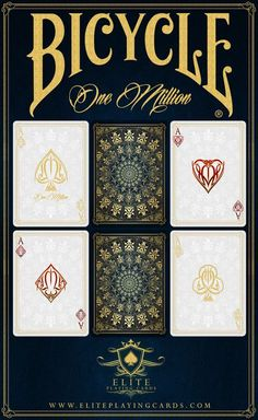 One Million Bicycle® Playing Cards Deck by Elite Playing Cards — Kickstarter These are GORGEOUS cards!