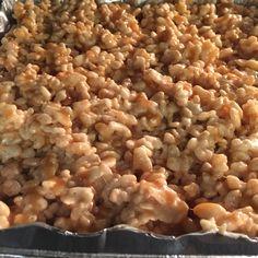Salted Caramel Rice Krispie treats