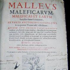 una delle più importanti opere di demonologia ed esoterismo: Malleus maleficarum  [fonte: Le Blog du Bibliophile - Hugues Ouvrard]