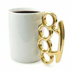 For Monday mornings.... Brass knuckle coffee cup