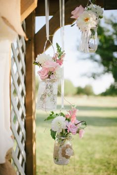 Cobb Country Wedding flowers on the ceremony arch