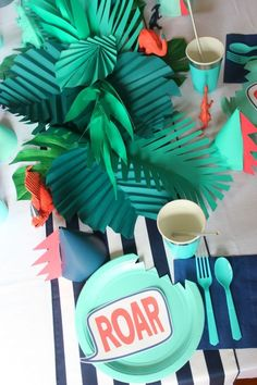 Modern Dinosaur Birthday Party: Roar! Owen Turns Four