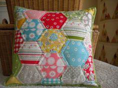 Hexagon Pillow by A Quilting Life - a quilt blog: Tutorials