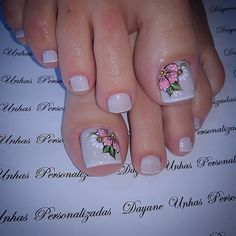 Fingernail Designs, Toe Nail Designs, Feet Nails, My Nails, Summer Toe Nails, Plaid Nails, Manicure E Pedicure, French Pedicure, Toe Nail Art