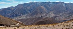 Panorama View along Famous Road Ruta 13 in Northern Argentina