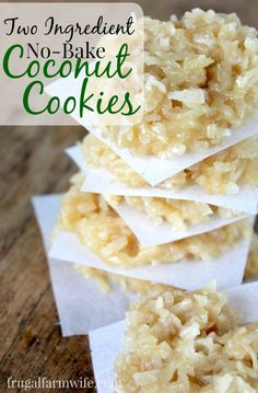 no-bake coconut cookies. These are so easy and HEALTHY! But most importantly (for me) they're super allergy-friendly!