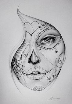Get La Muerte Tattoo. Still looking for design, placement - thigh Bucket List. Get La Muerte Tattoo. Still looking for design, placement - thigh. Get La Muerte Tattoo. Still looking for design, placement - thigh. Sketch Tattoo Design, Sketch Design, Tattoo Sketches, Tattoo Drawings, Drawing Sketches, Art Drawings, Pencil Drawings, Drawing Art, Pencil Art