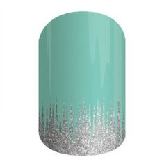 Iced   Jamberry  Teal and silver come together in harmony on this sparkle wrap.  Jamberry Nail Wraps Nail Art