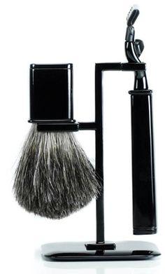 Black Shaving Stand Set