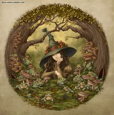 The Frog Witch by LiaSelina.deviantart.com on @deviantART
