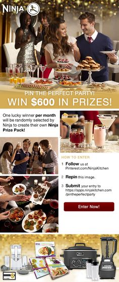 Ninja Kitchen Pin the Perfect Party Sweepstakes   #NinjaKitchen #RepinToWin