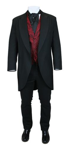 Traditional Cutaway Coat - Black Victorian/Edwardian Day Wear