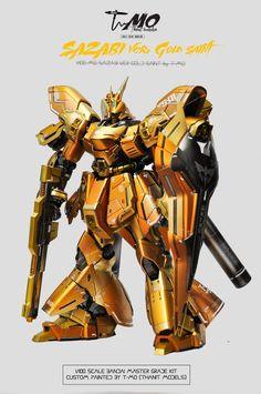 GUNDAM GUY: READERS FEATURE GUNPLA BUILD - MG 1/100 Sazabi Ver. Gold Saint by T-MO
