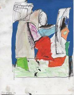 Eddie Martinez, Untitled, 2013 on Paddle8