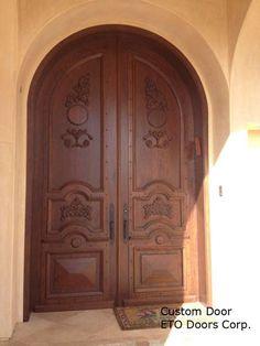 Door Emporium   Model # 2 Carved Red Mahogany 8 Panel Solid Wood Door |  Doors Interior, Exterior, Garage, Door Archway, Hardware | Pinterest |  Solid Wood, ...
