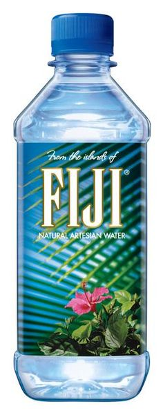 Fiji Water, makes you feel like you're drinking water straight from Fiji because of the imaging on the packaging.