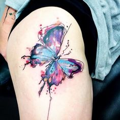 Help me pick which one pretty please (would be small and on my wrist) . . . . . . #butterflies #butterfly #butterflytattoo #watercolor #watercolortattoo #abstracttattoo #tattoos #tattoo #theme #tattootheme #colorful