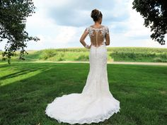 Stunning dramatic illusion back on the bridal gown