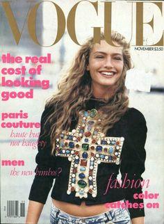Vogue US Nov. 1988 - first issue of Anna Wintour   Carlyne Cerf de Dudzeele - Stylist