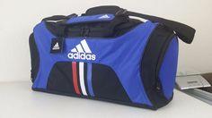 NWT ADIDAS SOCCER MEDIUM DUFFEL Blue/Scarlet/White Sport Gym Bag Luggage  #adidas #ebay #adidas #SoccerMediumDuffel