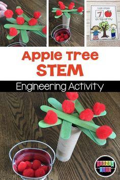 All About Apples Science Exploration - Kindergarten stem Preschool Apple Activities, Preschool Apple Theme, Autumn Activities, Preschool Learning, Preschool Apples, Stem Preschool, Teaching, Literacy Activities, September Preschool Themes