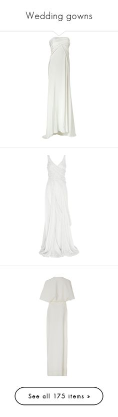 """""""Wedding gowns"""" by dezaval ❤ liked on Polyvore featuring dresses, gowns, wedding, wedding dresses, long dresses, white corset, jersey dresses, white corset dress, white strapless dress and women"""