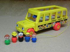 Vintage Fisher Price Little People School Bus