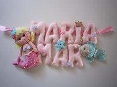 Plaque de porte personalisable Mer et Sirènne : Décoration pour enfants par sweetfelt