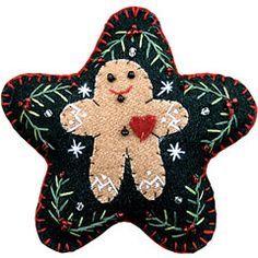 felt ornaments | Appliqued Felt Ornament - Gingerbread Boy | Christmas Ornaments ...