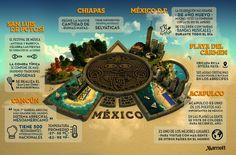México reúne años ancestrales de cultura, los mejores platos de la región, diversos paisajes y rincones alucinantes y encantadores, cada uno diferente del otro. Conoce el Top 6 de los mejores lugares para visitar México. #México #Infografía #chiapas #Acapulco #Cancún Reserva Natural, Cursed Child Book, City Life, Atlantis, Road Trip, Travel, Mayan Ruins, City, Scubas