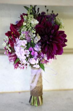 """""""Rustic romance"""" bridesmaid bouquet made at Greenlife Grocery Asheville from local farm flowers."""