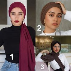 Whats your style ? Turban Outfit, Hijab Turban Style, Mode Turban, Hijab Outfit, Hair Wrap Scarf, Hair Scarf Styles, Hijab Styles, Head Wraps For Women, Hijab Style Tutorial