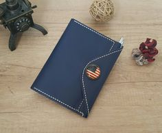 Handmade leather field notes cover  free by ATLeatherBoutique