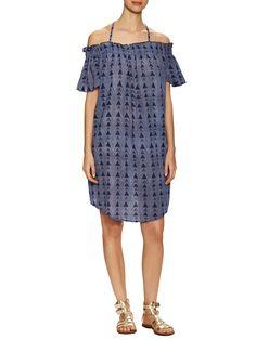 Marabelle Cotton Cold Shoulder Shift Dress