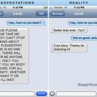 Texting Your Ex: Expectations Vs. Reaiity When you're texting your ex anything can happen, and it's not really ever what your expectations are. Text Jokes, Funny Text Fails, Funny Texts, Fail Texts, You Funny, Hilarious, Funny Pins, Funny Humor, Funny Stuff