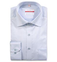 Modern Fit polopriliehavá modrá štrukturovaná košeľa Vaflový vzor (atlasová tkanina)