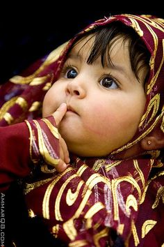 Kuwaiti infant. (Kuwait, Middle East and Western Asia)