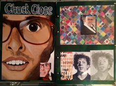 Chuck close acrylic painting, pencil drawing & artist research | identity