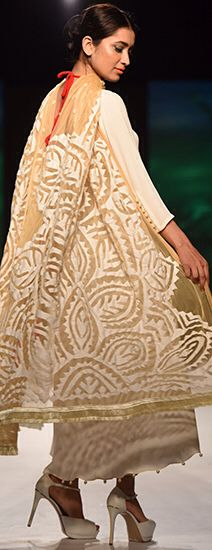 Sanam Chaudhry -- 'daraz' applique often paired with chikankari work