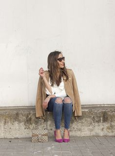 Suede Jacket & Ruffled Blouse | BeSugarandSpice - Fashion Blog