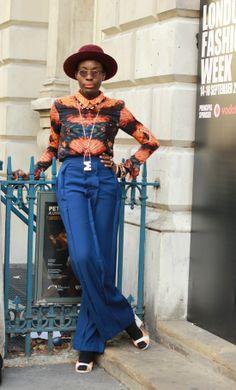 #MarianKihogo #GeorgiaHardingepants #GeorgiaHardingeshirts #colors #MariaFrancescaPepenecklace #OliverPeoplesglasses #hat #Bateshat #prints #look #print #street #fashion #look #mode #moda #women #streetstyle #London #streetview #street #style #offcatwalk on #sophiemhabille