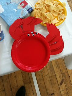 Ellie Maykes: Jack and Lexies Birthday party! Water Birthday, Mermaid Birthday, Birthday Fun, First Birthday Parties, Birthday Party Decorations, Birthday Ideas, Lobster Party, Crab Party, Crawfish Party